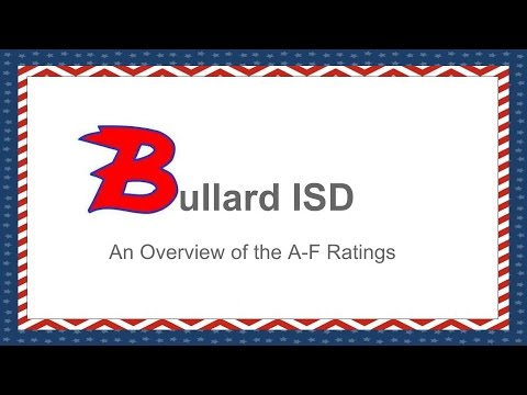 Bullard ISD Overview of A F Rating