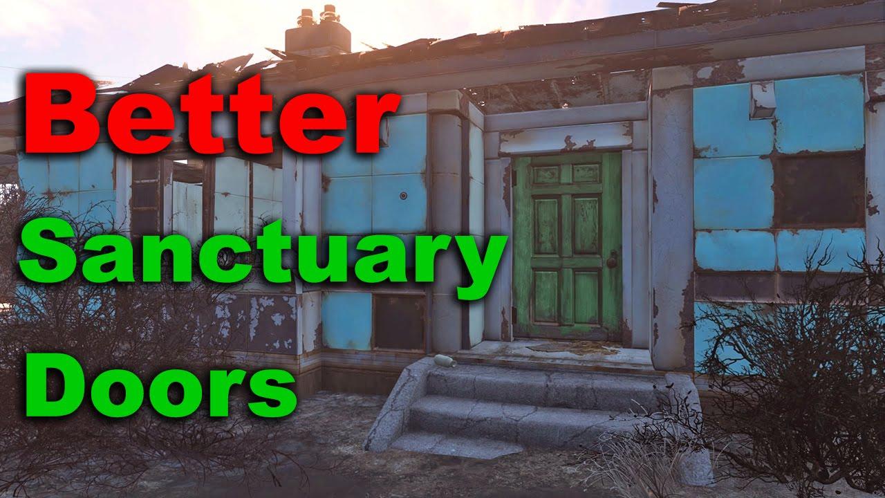 & Fallout 4 Tips \u0026 Tricks: Better Sanctuary Doors - YouTube