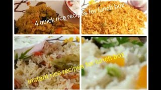 4 quick and easy rice  recipes / Lunch box recipes and ideas / Indian Mom Busy Lifestyle