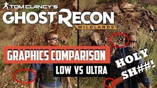 Tom Clancy's Ghost Recon Wildlands - PC LOW vs ULTRA Graphics Comparison (WOW!!)
