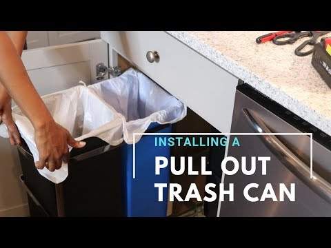Diy Installing A Pull Out Trash Can
