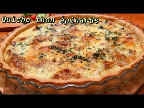 recette-de-quiche-légère-thon-épinards-sans-crème-fraiche-وصفة-كيشي-التونة-والسبانخ-بدون-قشدة-طرية