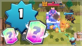 USING LEGENDARY CARDS ON NOOBS | Clash Royale | Level 1 Account Troll Deck