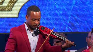 Violinist Wesley Morris at the Swearing In Ceremony of the Members of Cabinet