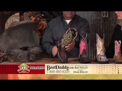 Review Of Durango Women's Flirt Square Toe Tan & Green Cowgirl Boots RD3573