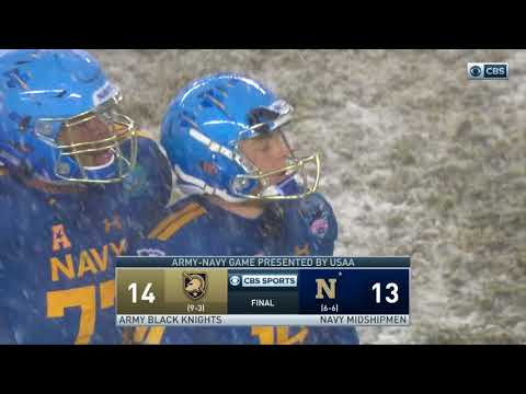 Army Football: Final Play of the 2017 Army-Navy Game 12-9-17