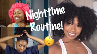 Nighttime Routine For Growing Long, Thick Natural Hair