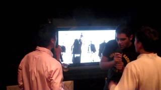 At Di Yuan karaoke in Flushing with the Blackstreet Boys - Peck the beak