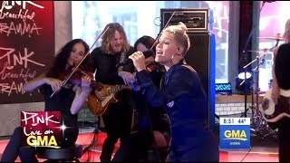 pnk beautiful trauma live gma