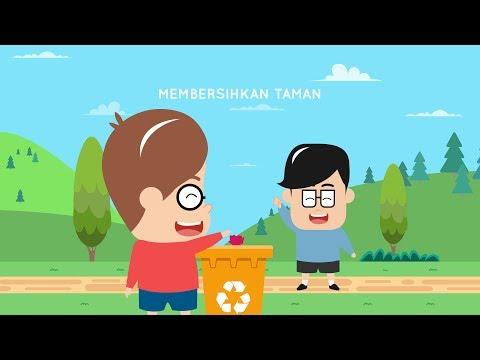 Belajar Menjaga Kebersihan Lingkungan | Cerita Eza dan Adi | Kartun Menjaga Kebersihan
