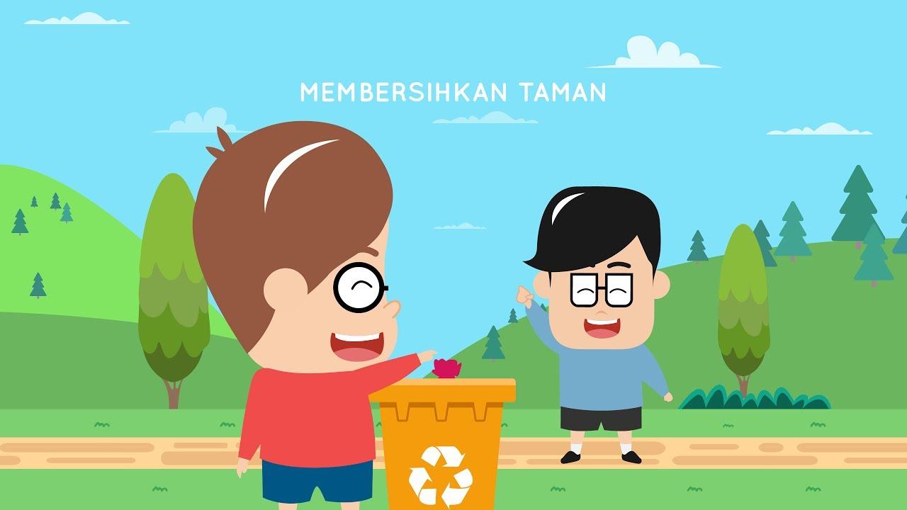 Gambar Kartun Anak Membuang Sampah Sembarangan Top Gambar