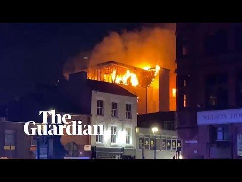 Investigation under way into blaze at Bolton student building