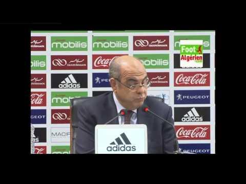 Conférence de presse du président de la FAF Mohamed Raouraoua