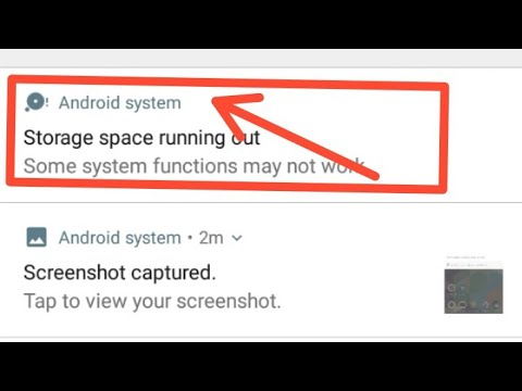 Android System Storage Space Running Out Some System Functions May Not Work