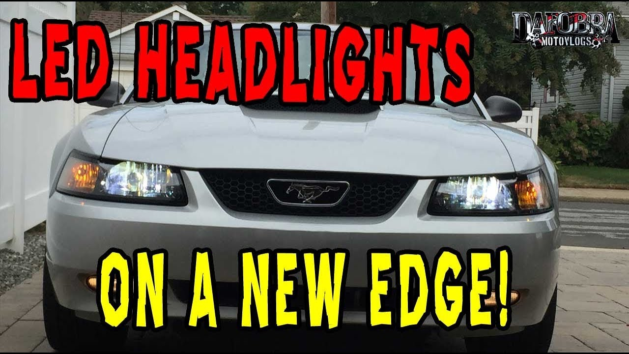 how to install led headlights on a new edge mustang 1999 2004 youtube how to install led headlights on a new edge mustang 1999 2004