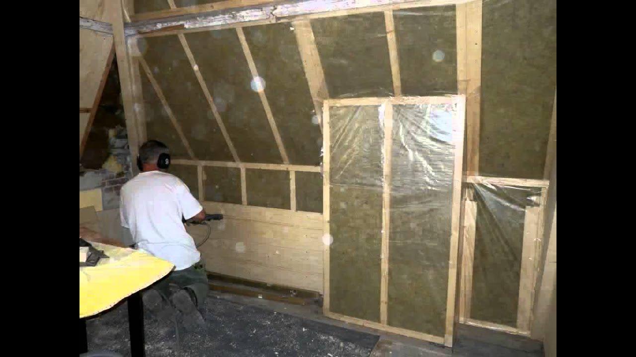 Kosten Garage Isoleren : Isoleren en dichtmaken houtskeletwanden youtube