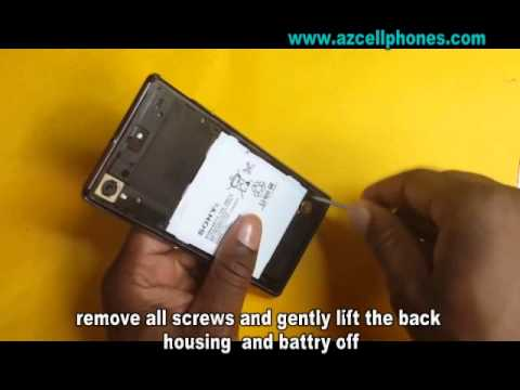Sony Xperia Z Repair - Back Housing and Battery Removal