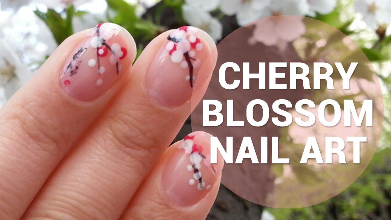 Korean Cherry Blossom Nail Art Wishtrend Youtube