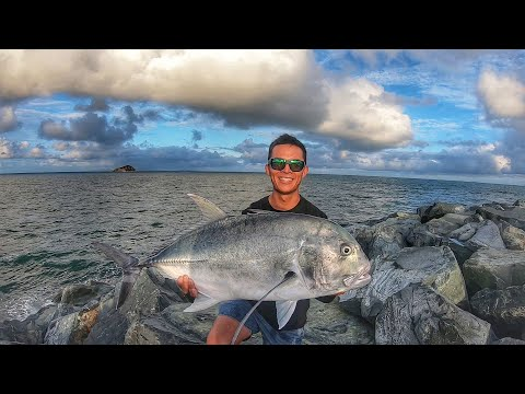 Inshore Pelagic Fishing Mackay: Mackeral, Tuna, Queenfish + Epic Land Based Game Giant Trevally EP 5