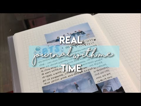 real time journal with me in public and real sound | kpop journal with me → bts