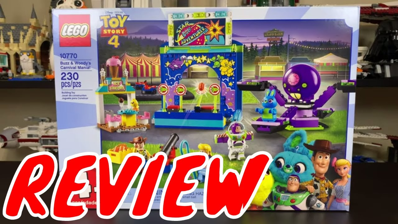 Lego Toy Story 4 Buzz Woody S Carnival Mania 10770 Review Youtube