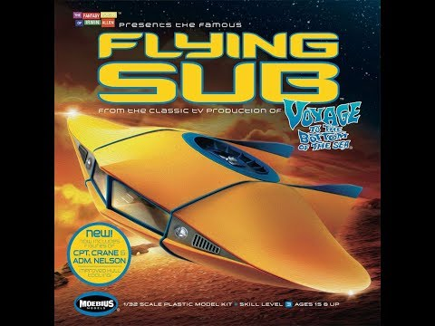 Moebius Flying Sub 1/32 Final Reveal