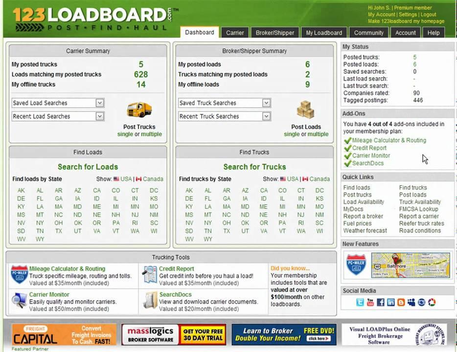 123loadboard - Find Loads - Tag a Load