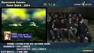 Star Fox 64 :: SCORE RUN (0:44:31) by Zallard1 #AGDQ 2014