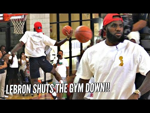 LeBron James CRAZY DUNKS During Bronny's Pre-Game Warm Ups!!! SHUTS THE GYM DOWN!