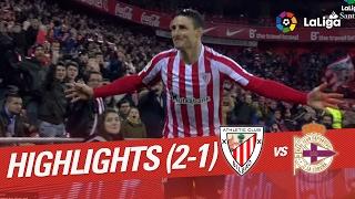 Resumen de Athletic Club vs Deportivo de la Coruña (2-1)