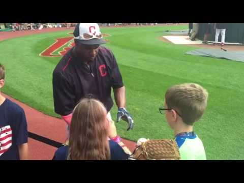 A Visit to Progressive Field - Cleveland Indians player autographs, kids zone and more