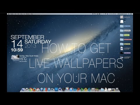 How To Get Live Wallpapers On Your Mac | Mac OSX Tip - YouTube