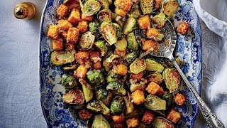 Brussels Sprouts With Cornbread Croutons | Southern Living