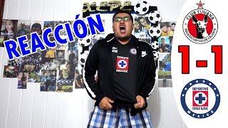 ¡HEROICO EMPATE! REACCIÓN XOLOS VS CRUZ AZUL 1-1