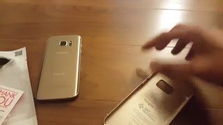 galaxy s7 ringke ultra slim thin fit gold case unboxing