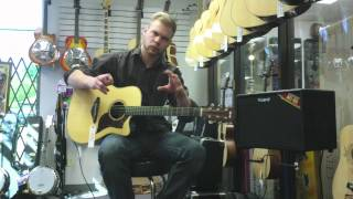 yamaha a3r acoustic guitar product demonstration