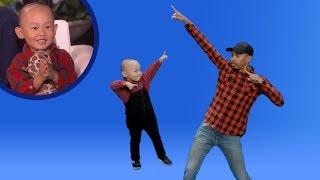 'OMKalen': Viral Kid Dancer Liang Liang Teaches Kalen Some Dance Moves