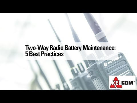 Two-Way Radio Battery Maintenance: 5 Best Practices