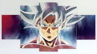 DIBUJANDO A LO GRANDE   Cuadro en 5 partes 😍   Goku Ultra Instinct 100%   Dragon Ball Super
