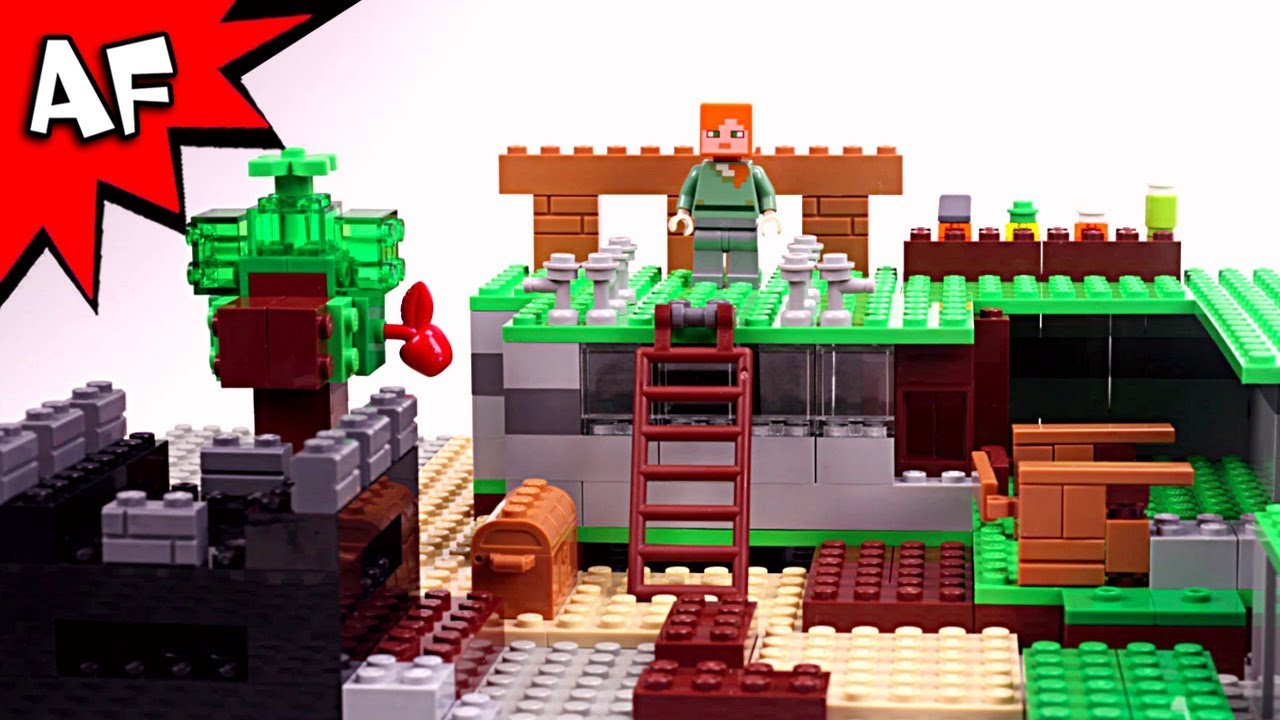 Lego Minecraft Brick Building  How To Build A House With Alex