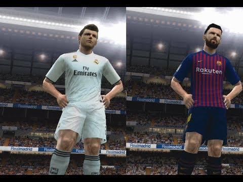 PES 2019 PS2 (Beta) Real Madrid Vs Barcelona In New Kits 2018/2019 Gameplay