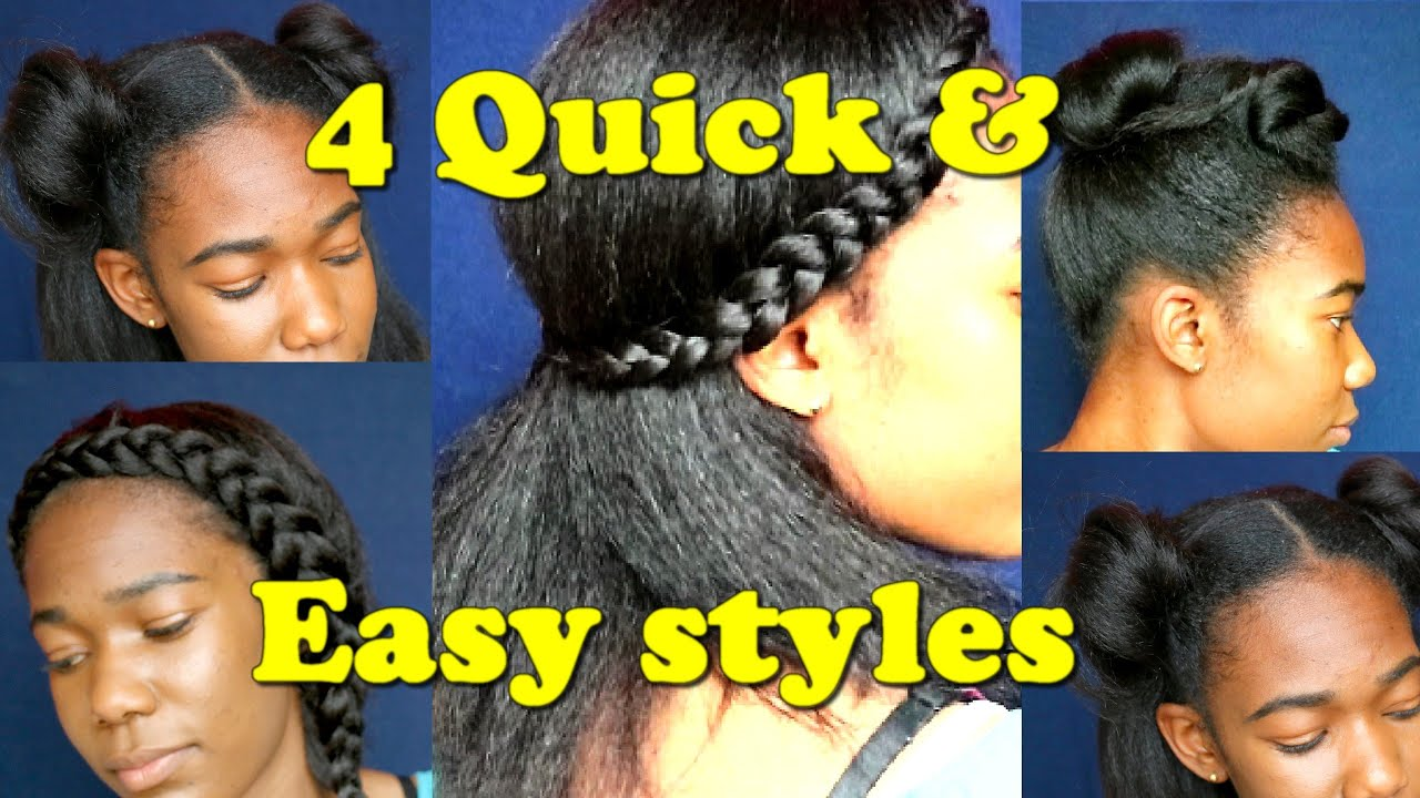 4 Quick Lazy Day Hairstyles Blown Out Natural Hair Jah Nette