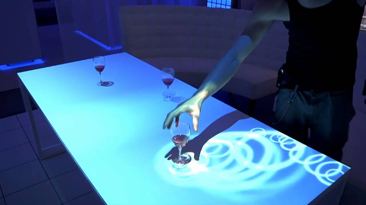 Genial Interactive Table Top Projections   Levy Lighting | NYC   YouTube