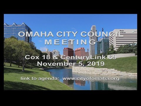 Omaha Nebraska City Council meeting November 5, 2019