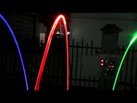 Laminar Jet Test At Night  - Himalaya Music Fountain.wmv