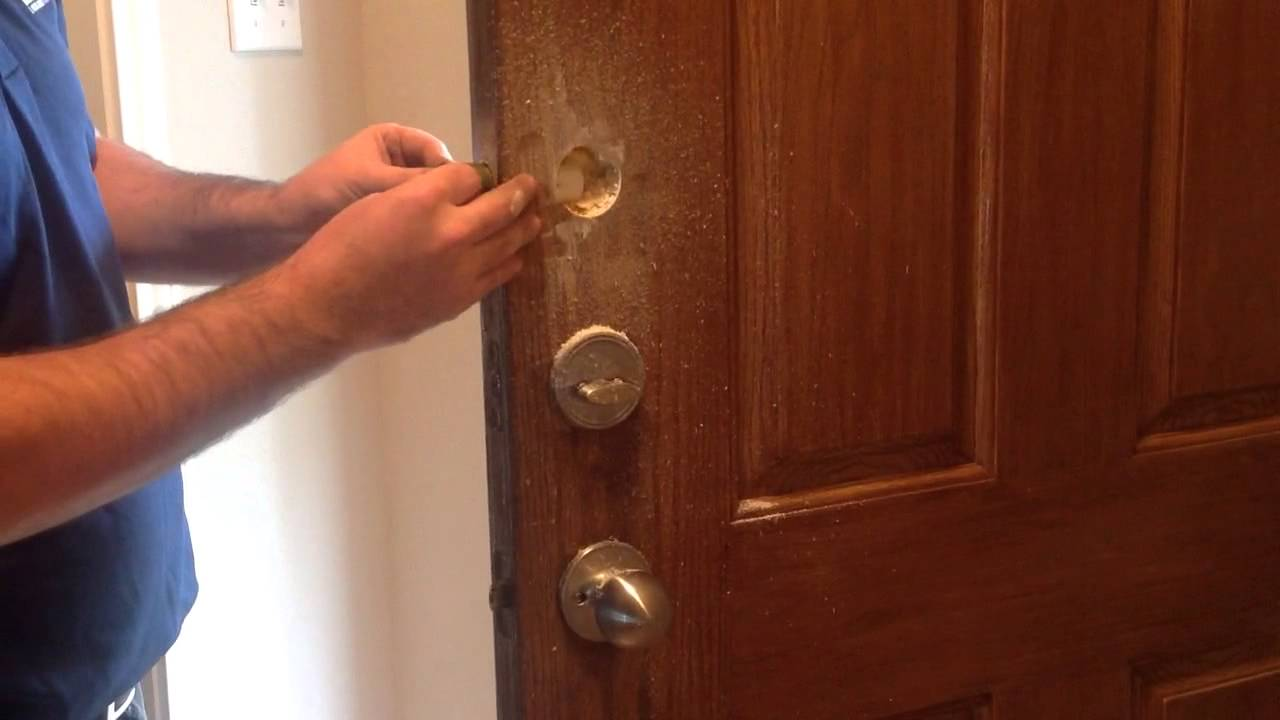 How To Installing Keyless Deadbolt One Sided Deadbolt Rekeytraining    YouTube