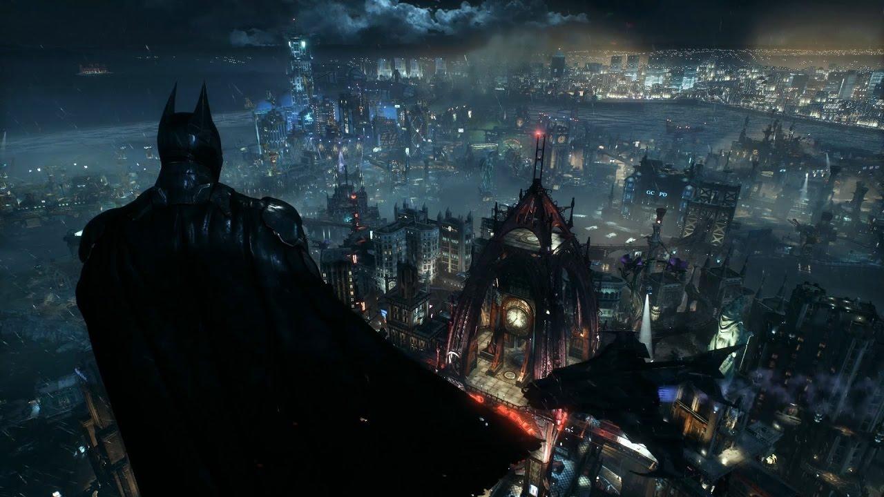 Wallpaper Engine Batman Arkham Knight Batman Overlooking Gotham From Wayne Tower