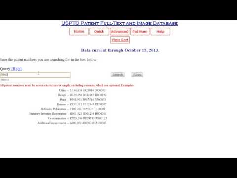 Patent Number Searching Tutorial