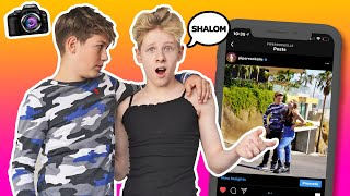 RECREATING Piper Rockelle's INSTAGRAM COUPLES Photos **FUNNY CRUSH CHALLENGE**| LEV CAMERON