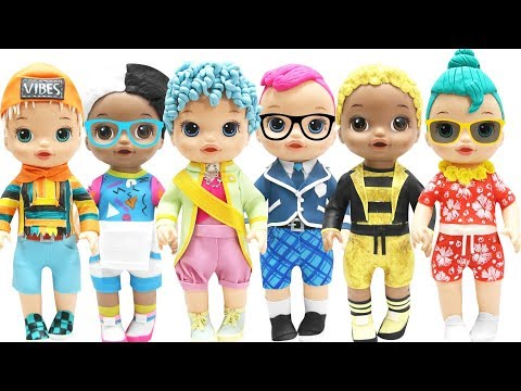 Play Doh NEW!!! L.O.L Surprise  BOYS Sunny, King Bee, Smarty Pants, His Royal High-Ney, Luau